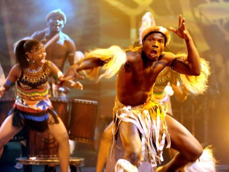"Cirko ""Mother Africa"" pasirodymas"