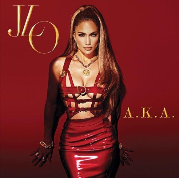 """Dešimtojo Jennifer Lopez albumo """"A.K.A."""" viršelis"""