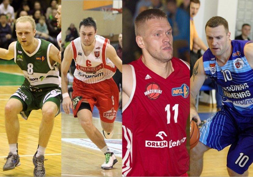 NKL keturių komandu kapitonai