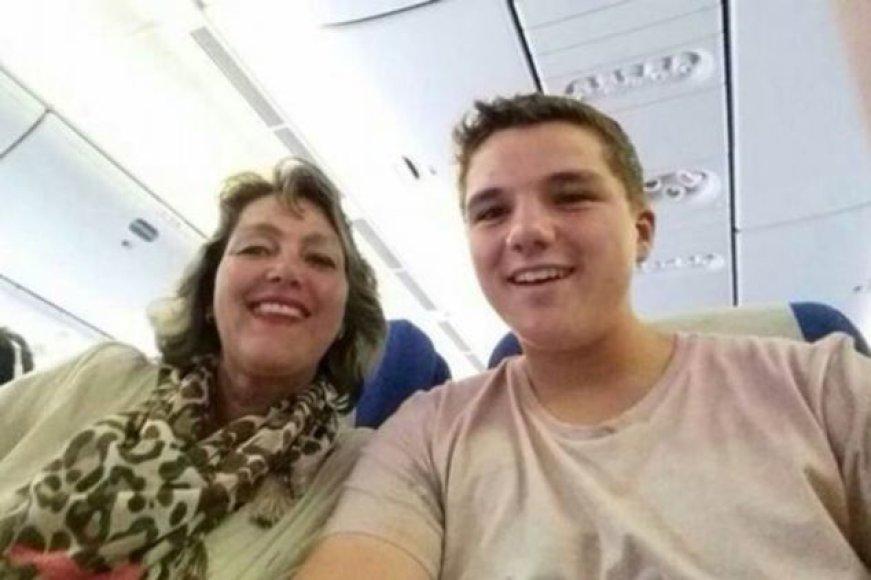 Olandas Gary Slokas ir jo motina Petra Langeveld