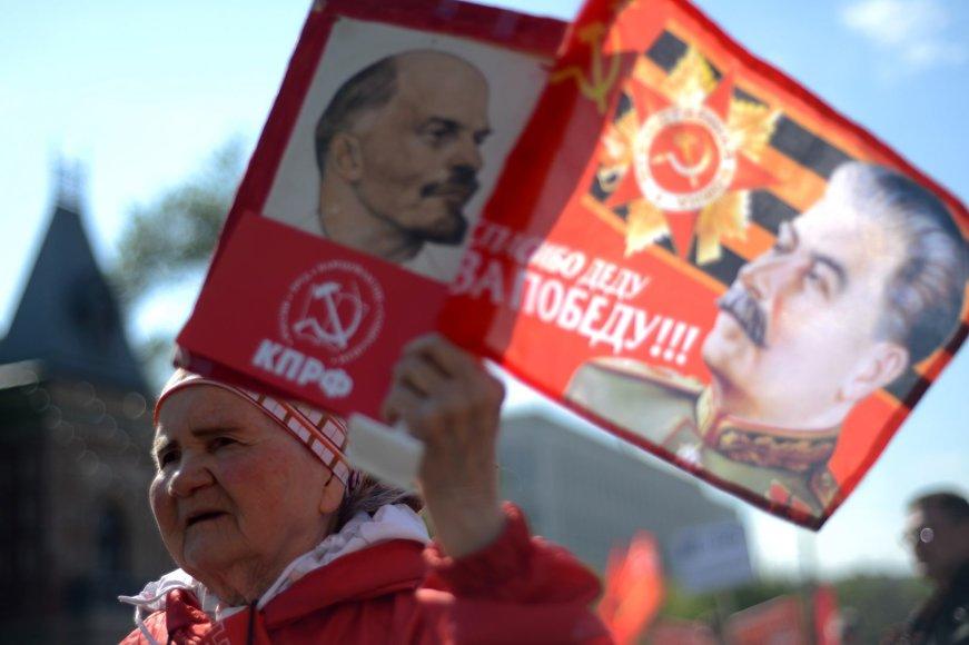Maskvoje per 100 tūkst. žmonių dalyvavo Gegužės 1-osios eitynėse.
