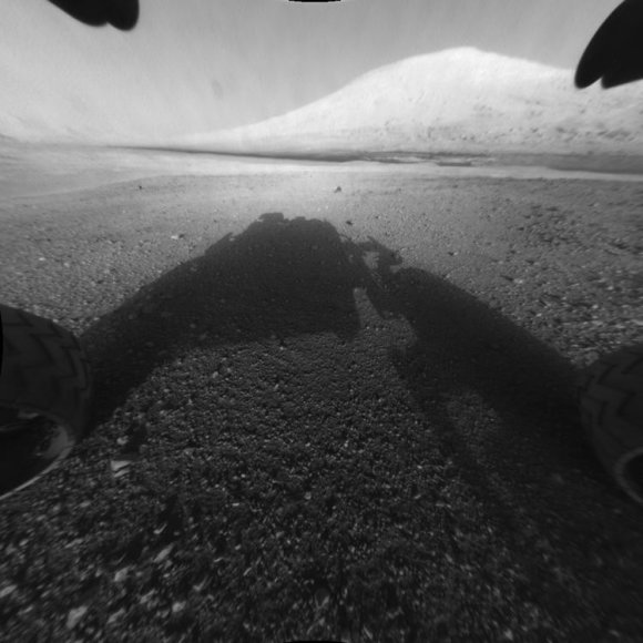 """Marsaeigio """"Curiosity"""" tikslas – Geilo krateryje esantis Šarpo kalnas."""