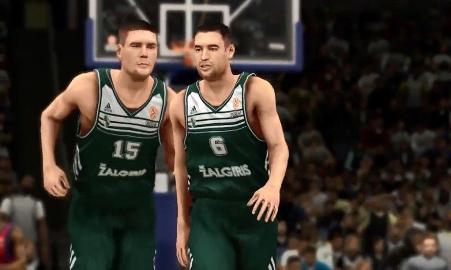 """Kauno """"Žalgiris"""" žaidime """"NBA 2K14"""""""