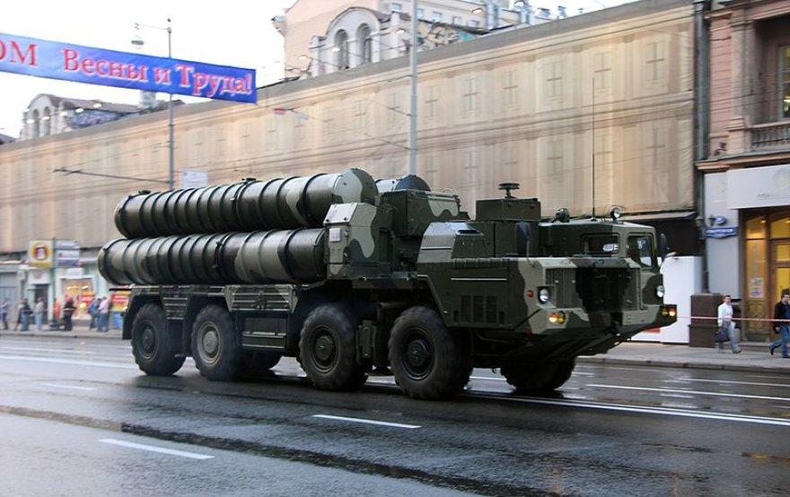 S-300 karinio parado Maskvoje metu