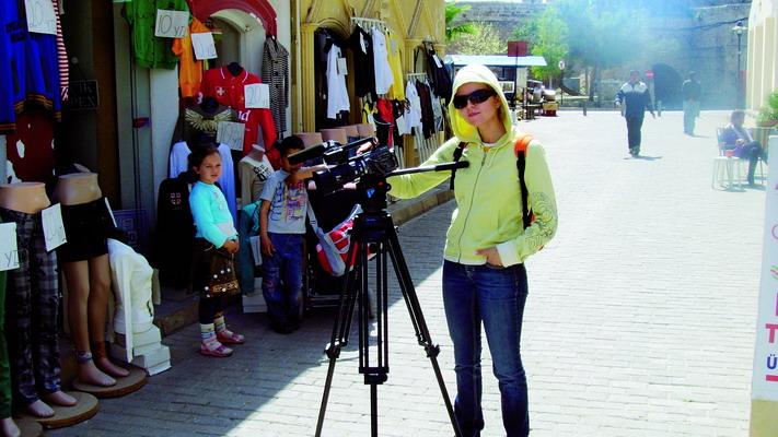 Foto naujienai: Rūta Mikelkevičiūtė šiapus filmavimo kameros