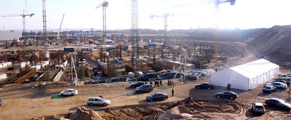 Nacionalinio stadiono statybos ant Šeškinės kalno, Vilniuje.