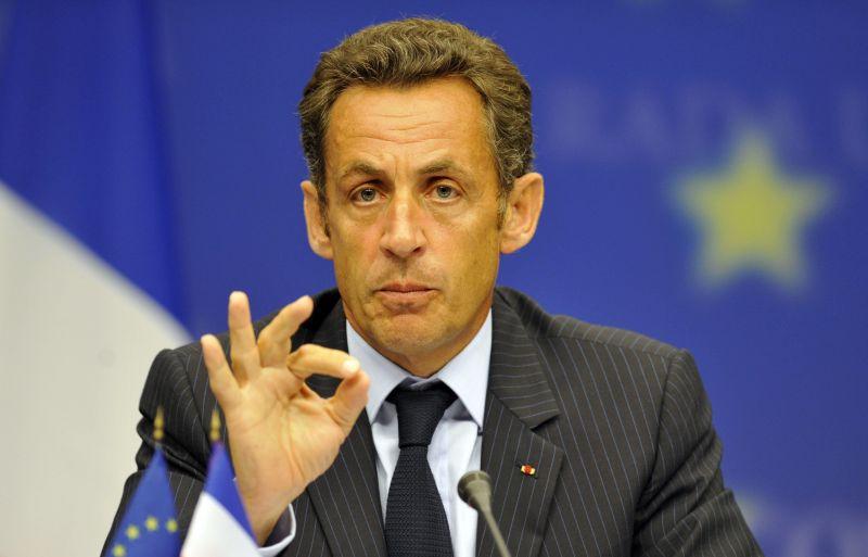 Prancūzijos prezidentas Nicolas Sarkozy.