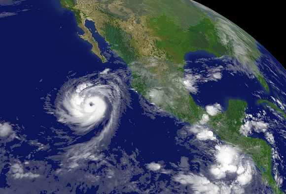Uraganas Norbertas pasiekė Meksikos pakrantę.