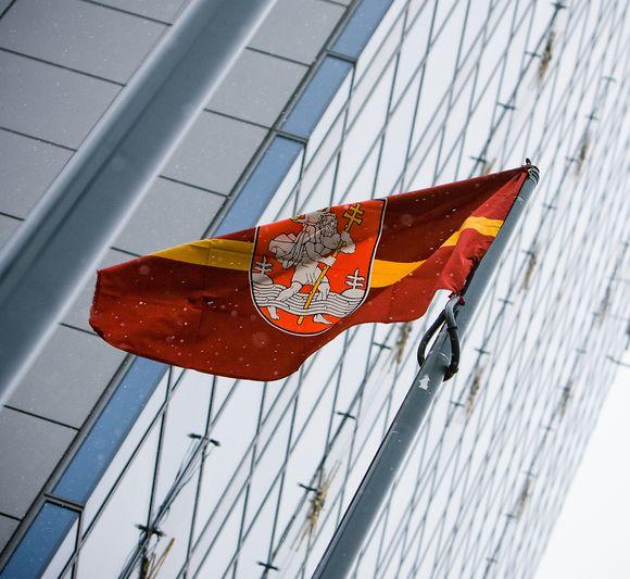 Vilniaus herbas netrukus gali puikuotis viename iš Briuselio dangoraižių.
