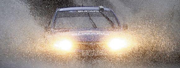 """Norvegas Petteras Solbergas vairuoja """"Subaru Impreza"""""""
