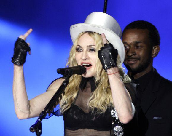 Kadras iš Madonna koncerto