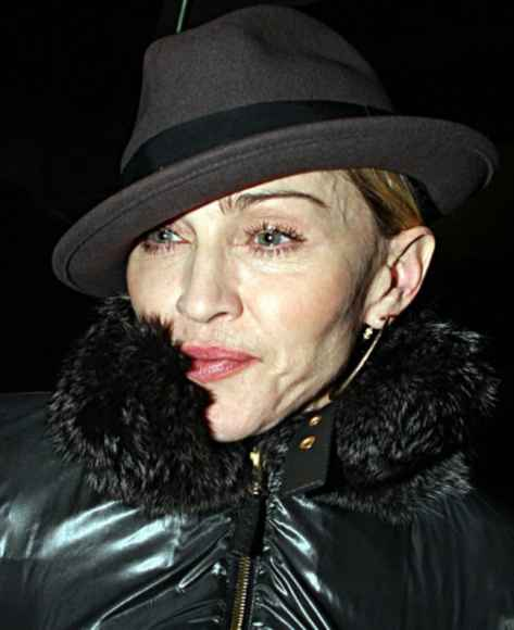 Po švenčių Madonna atrodo išsekusi