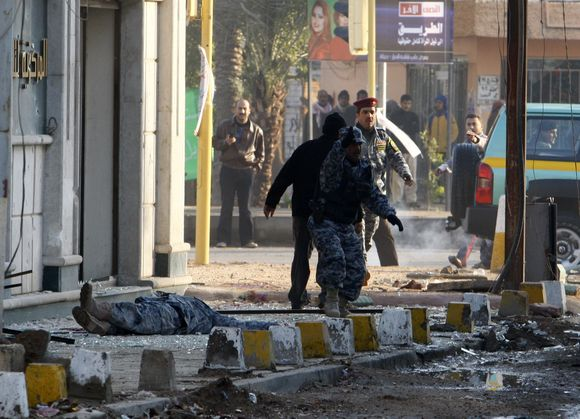 Per sprogimus Bagdado centre žuvo mažiausiai penki žmonės.