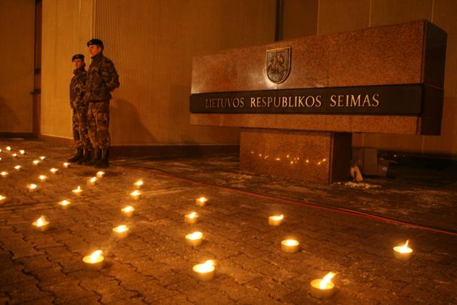 Sausio 13-osios įvykių minėjimas Vilniuje.