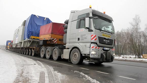 Sunkiasvorio krovinio kelionė per Lietuvą