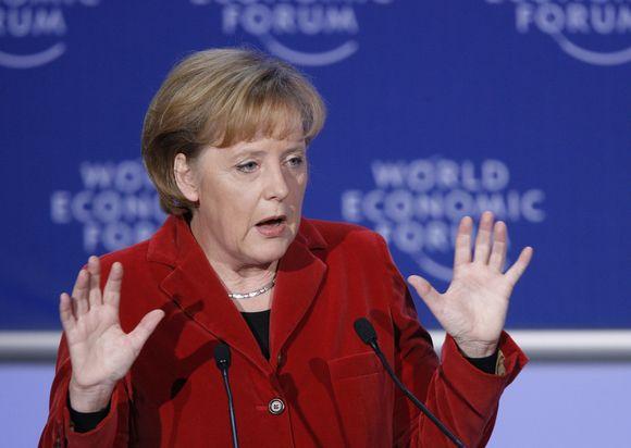 Vokietijos kanclerė Merkel Davose