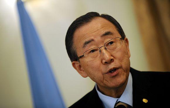 Jungtinių Tautų (JT) generalinis sekretorius Ban Ki-moonas