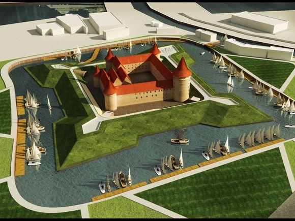 Galimybių studijos rengėjai, remdamiesi istorine medžiaga, siūlo atstatyti XIX amžiuje galutinai nugriautą Klaipėdos pilį.