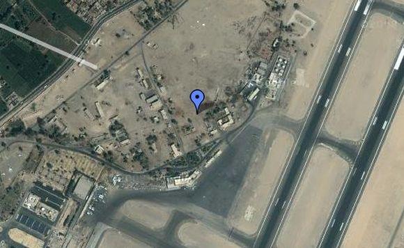 Žemėlapyje pažymėtas Luksoro oro uostas.