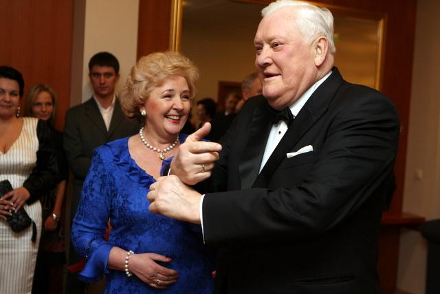 Algirdas Brazauskas su žmona Kristina