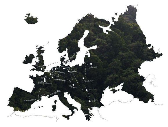 Paulo Paper kelionių žemėlapis