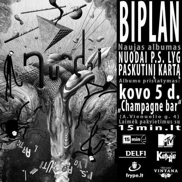 """Naujasis grupės BIPLAN albumas """"Nuodai"""""""