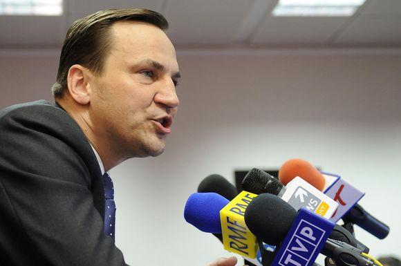 Lenkijos uždienio reikalų ministras Radoslawas Sikorskis