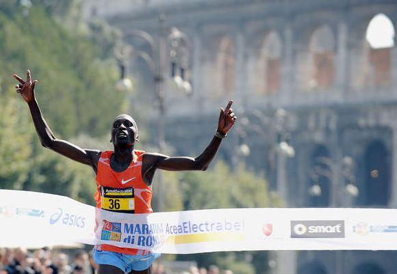 Romos maratono laimėtojas Benjamin Kiptoo Kolumas