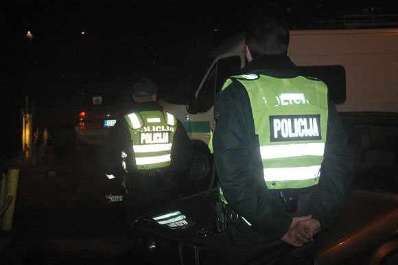 Policininkai įvykio vietoje