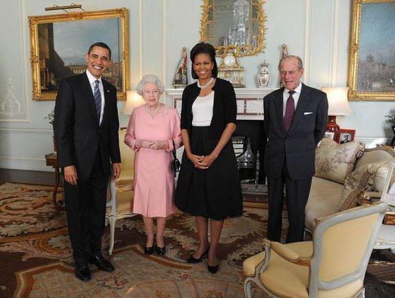 Reuters/Scanpix nuotr./Obamas priimė karalienė Elžbieta II.
