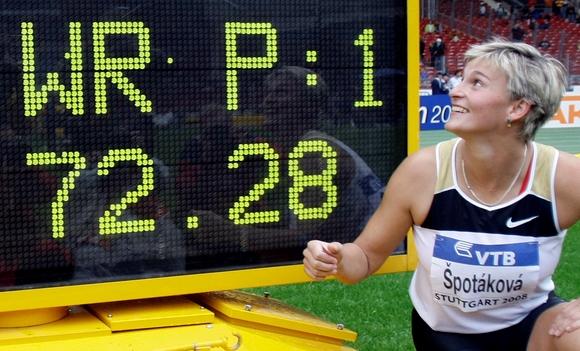 Pasaulio rekordininkė Barbara Spotakova