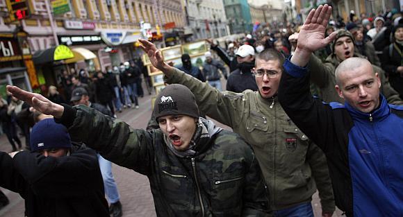 Rusijoje ultradešiniųjų eitynės miestų gatvėmis nėra jokia retenybė.