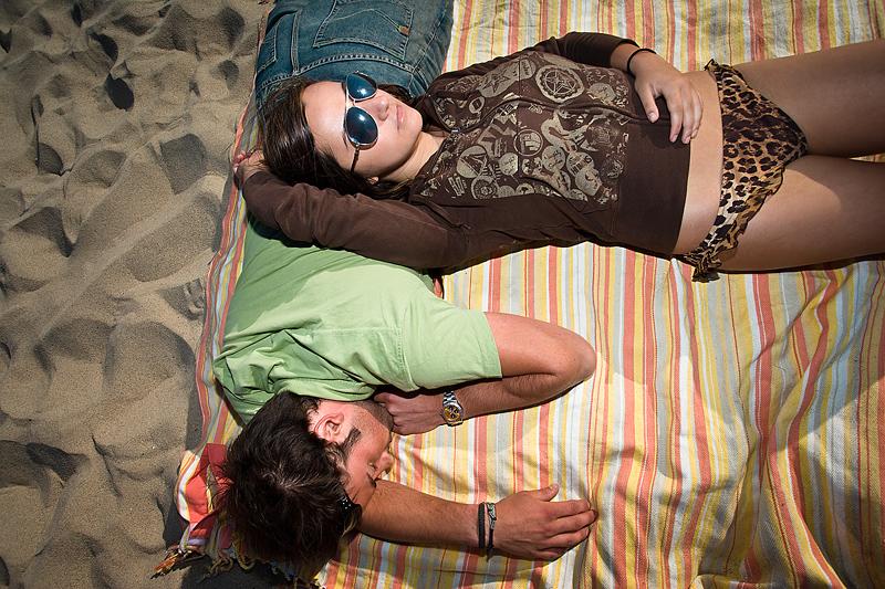 Porelė paplūdimyje