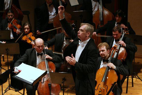 Lietuvos valstybinis simfoninis orkestras, kuriam jau dvidešimt metų vadovauja maestro G.Rinkevičius.
