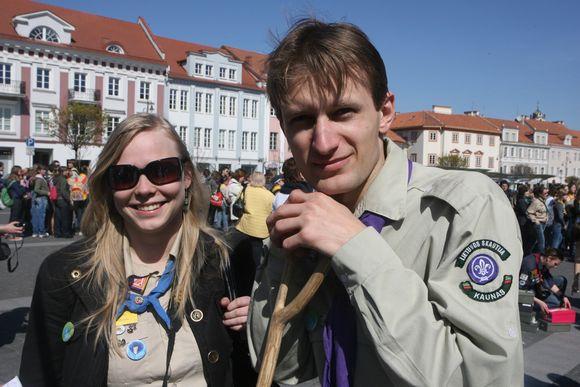 Šeštadienį skautai iš visos Lietuvos kampelių traukė į Vilnių švęsti jų globėjo - Šv. Jurgio dienos
