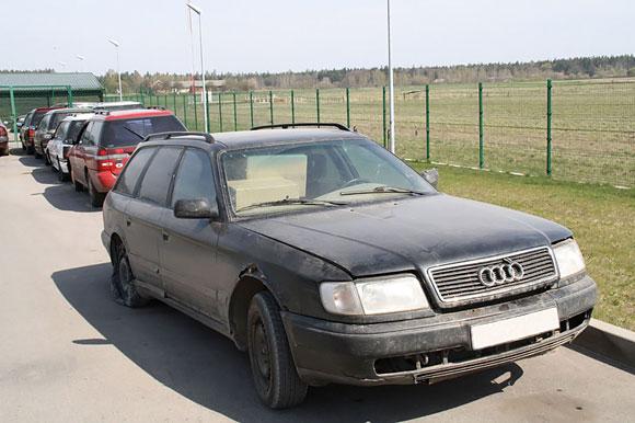 Pasieniečių sulaikytas Audi