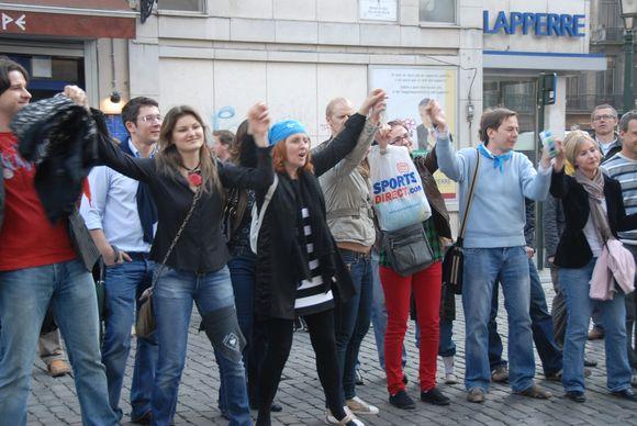 Kartu su visa Lietuva šeštadienį Gatvės muzikos dieną šventė ir Belgijoje gyvenantys lietuviai.