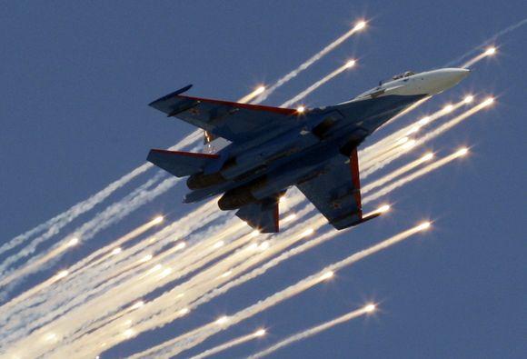 Rusijos karinės aviacijos pasirodymas padangėje