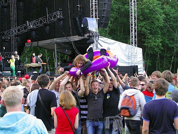 """Latvių pasididžiavimas – festivalis """"Positivus""""."""