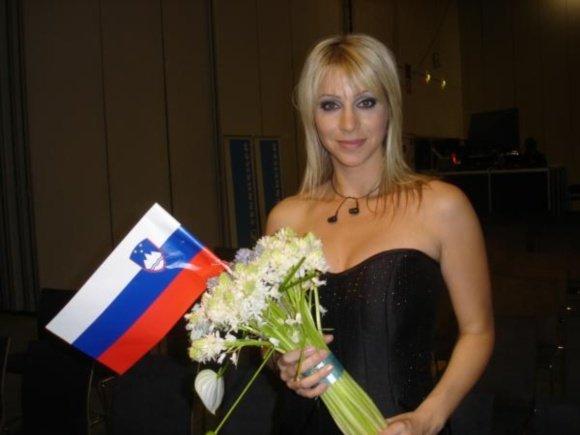 Eurovision tv nuotr./Martina ia grupės Quartissimo (Slovėnija)