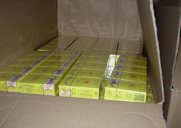Kontrabandinių cigarečių sandėlis