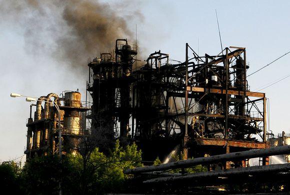 Kilo gaisras Armėnijos gumos gamykloje.