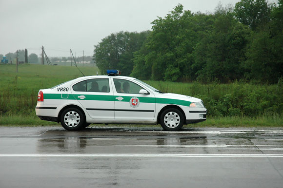 Policija avarijos vietoje