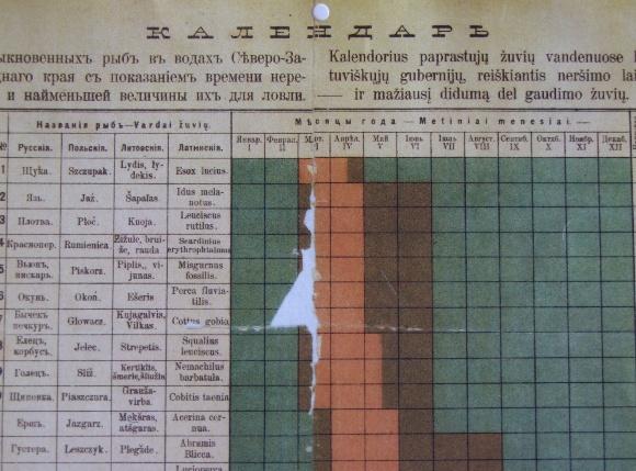Pirmasis pasaulyje žūklės kalendorius