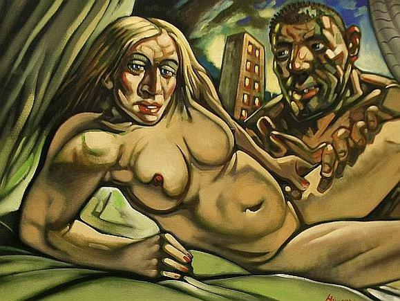 """Reuters""/""Scanpix"" nuotr./Peterio Howsono paveikslas ""Madonna ir Guy"""