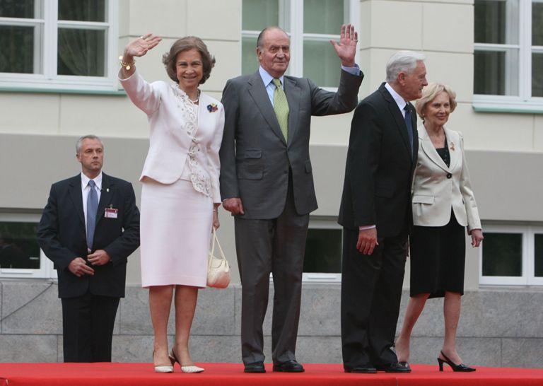 Ispanijos karališkoji pora vizito Lietuvoje metu.
