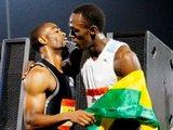 """""""Reuters""""/""""Scanpix"""" nuotr./Usainas Boltas ir Tysonas Gay"""