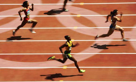 Jevgenijos Poliakovos finišas Pekine