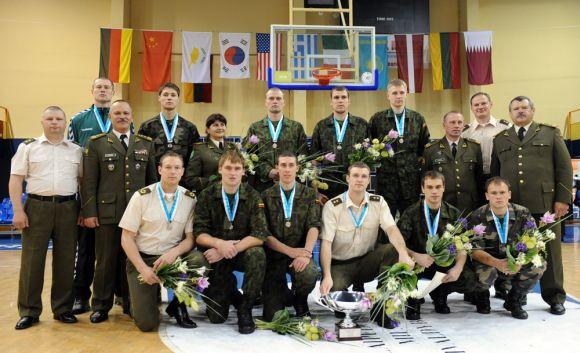 Pasaulio kariškių krepšinio pirmenybių vicečempionė Lietuvos rinktinė