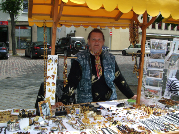 I.Udrienė skundėsi, kad gintaro pardavėjai apie pelną šiais metais gali tik pasvajoti.